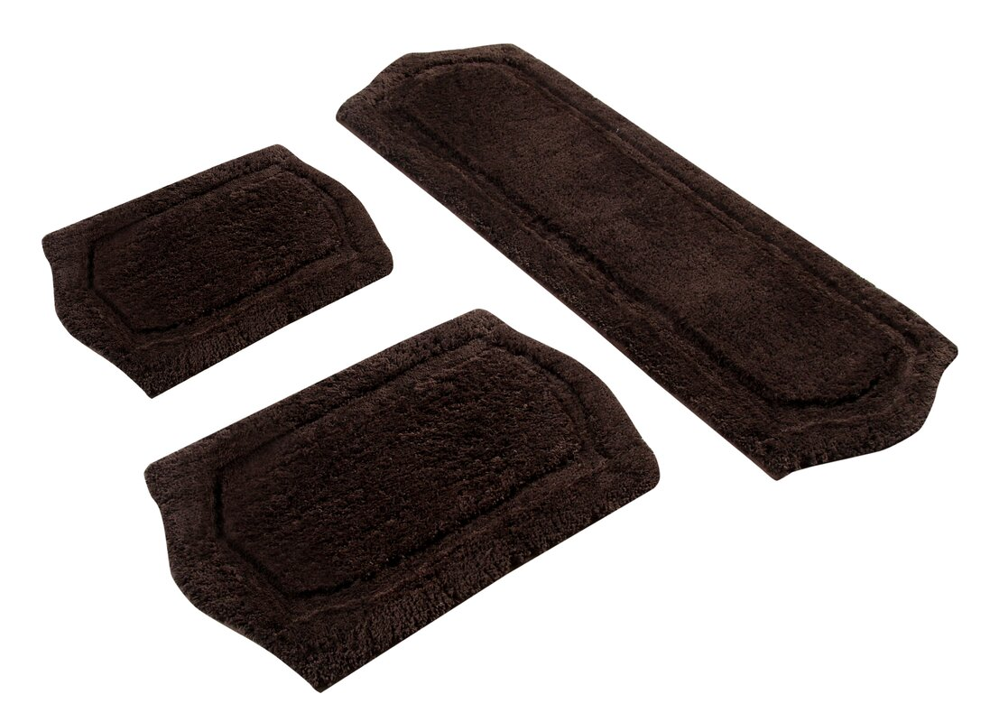 3 Piece Memory Foam Bath Rug Set - Symple Stuff 3 Piece Memory Foam Bath Rug Set & Reviews Wayfair