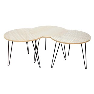 Renard 3 Piece Coffee Table Set By 17 Stories