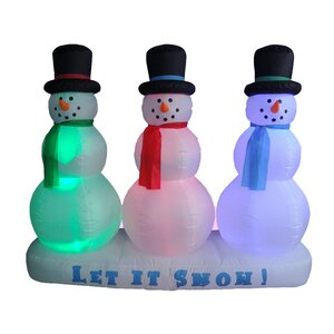 Christmas Inflatable Snowmen Lightshow Decoration