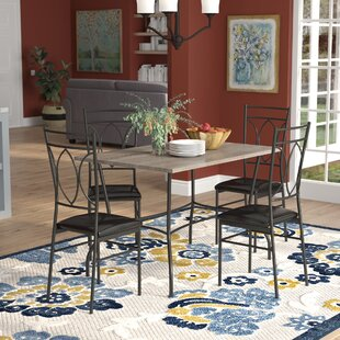 Malina 5 Piece Dining Set Red Barrel Studio
