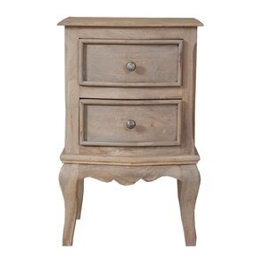 Bridgette 2 Drawer Bedside Table von Hazelwood Home