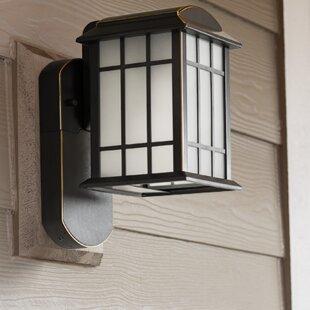 Maximus Craftsman Smart Security 1-Light Outdoor Wall Lantern