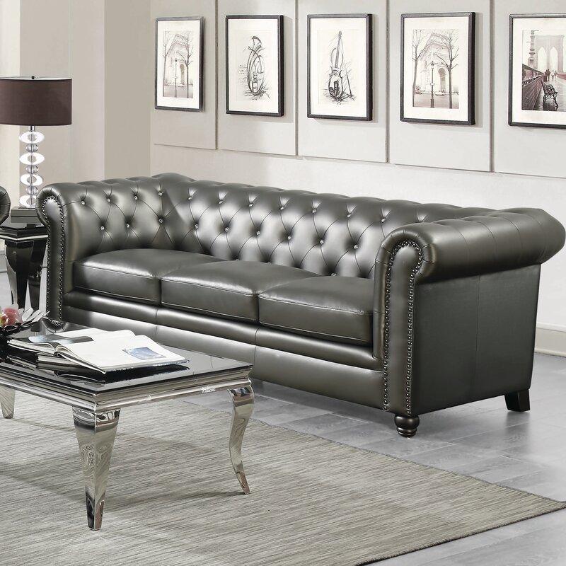 Beau Lucey Leather Chesterfield Sofa