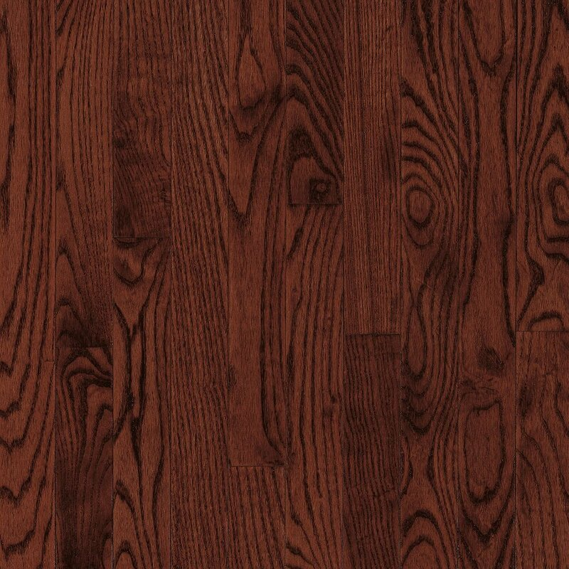 """SAMPLE - 2.25"""" Solid Ash Flooring in Cherry"""