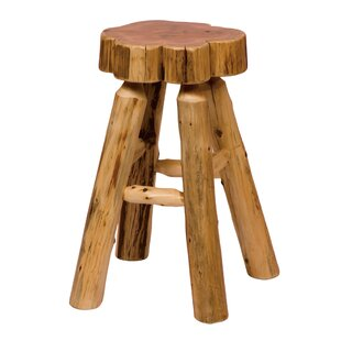 Traditional Cedar Log 24 Bar Stool Fireside Lodge