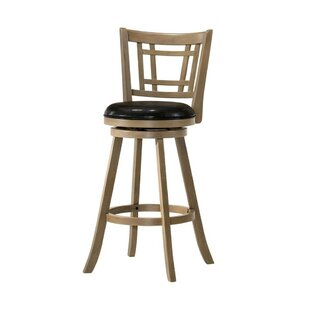 Davy Wooden 29 Bar Stool Ivy Bronx