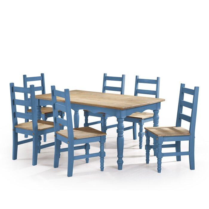 Pinard Solid Wood 7 Piece Dining Set