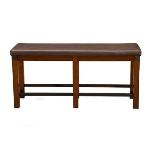 Millwood Pines Yamamoto Counter Height Wood Dining Bench