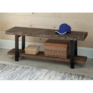Veropeso Reclaimed Wood/Metal Storage Bench by Mistana