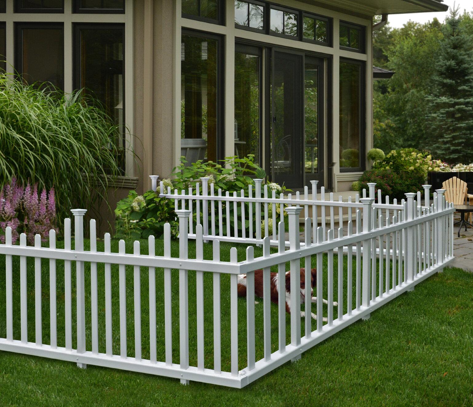 4pk Brick Effect Border Fence Weather Resistant Garden