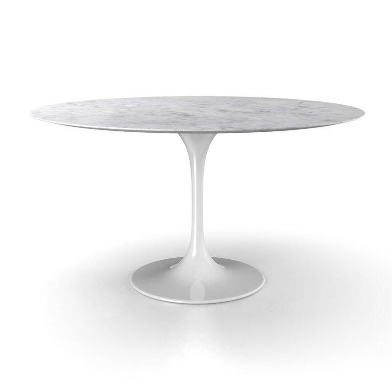 Larkson Carrara Marble Dining Table
