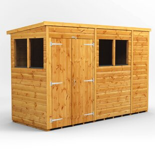 10 Ft. W X 4 Ft. D Shiplap Pent Wooden Shed By WFX Utility