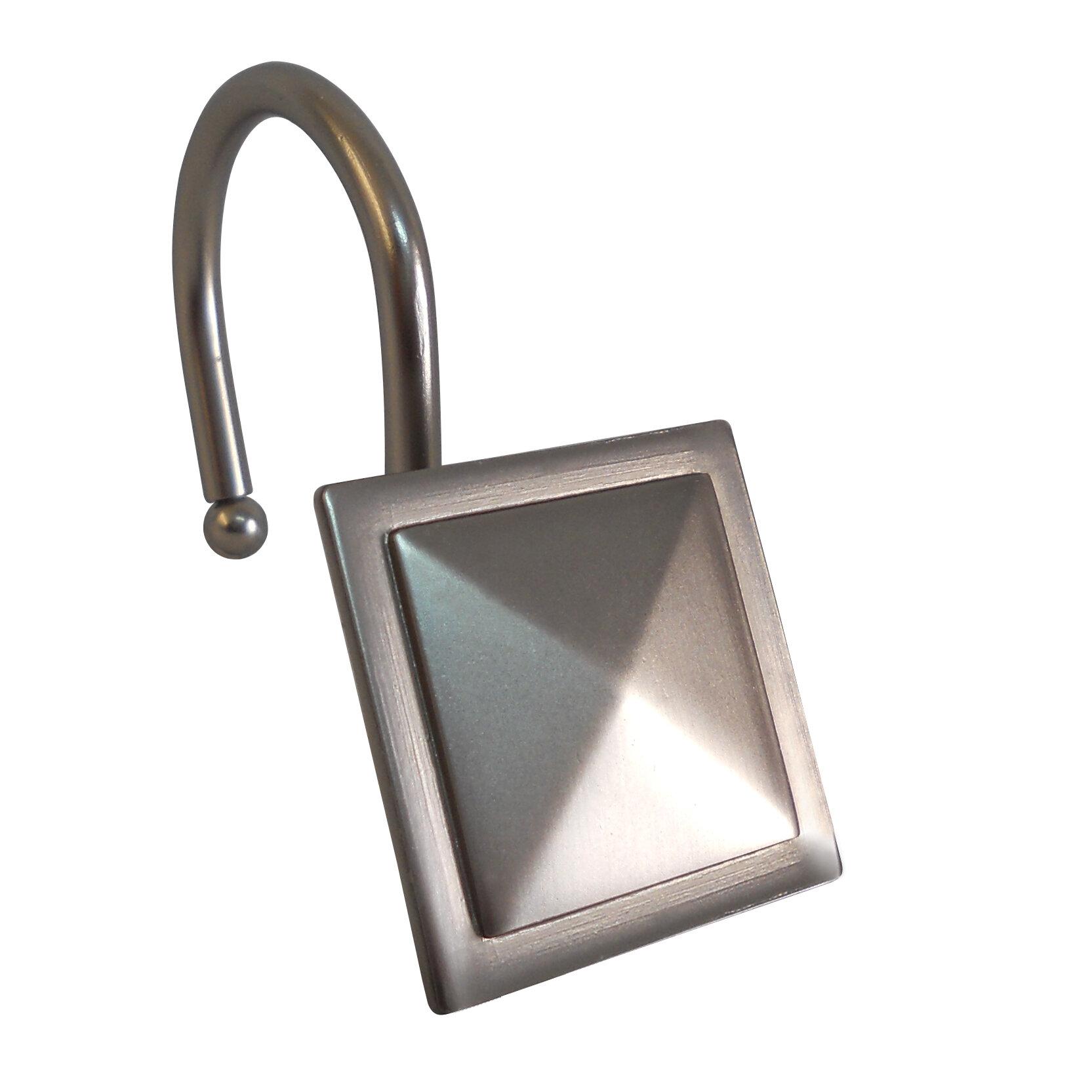 Diamond Line Design Shower Curtain Hooks