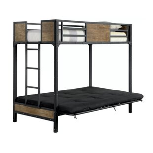 Harriet Bee Espanola Twin Futon Bunk Bed