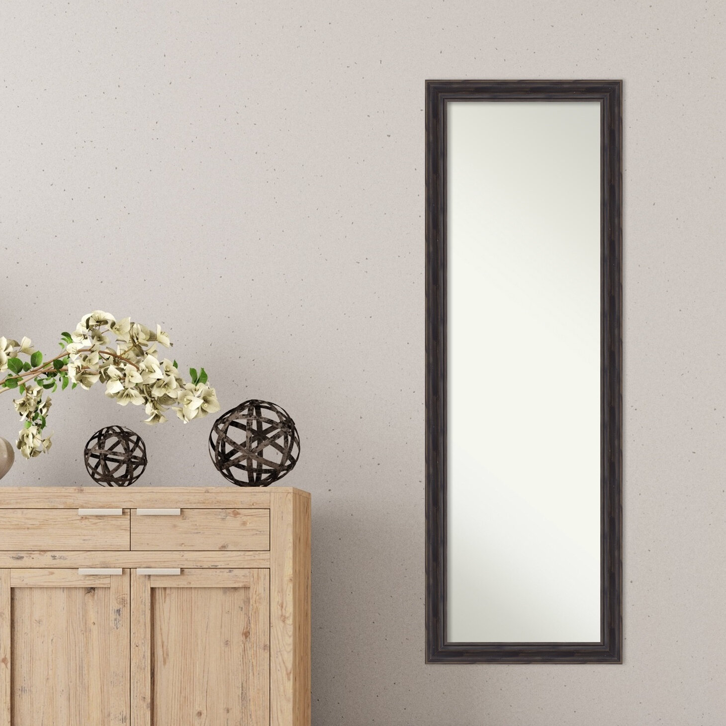 Loon Peak Narrow Rustic Pine Full Length Mirror Wayfair