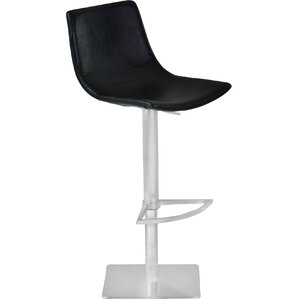 Burney Adjustable Height Swivel Bar Stool by Orren Ellis
