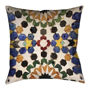Spanish Tile Outdoor Throw Pillow