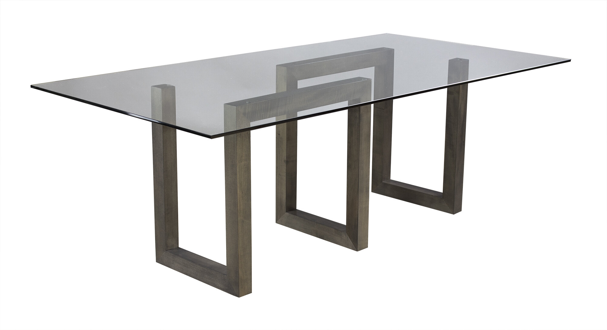 Reesa Glass Solid Wood Dining Table Reviews Allmodern