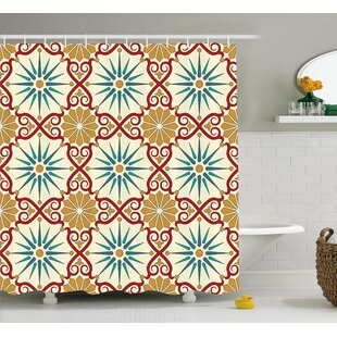 Great Price Ari Islamic Geometric Forms Shower Curtain By Bloomsbury Market