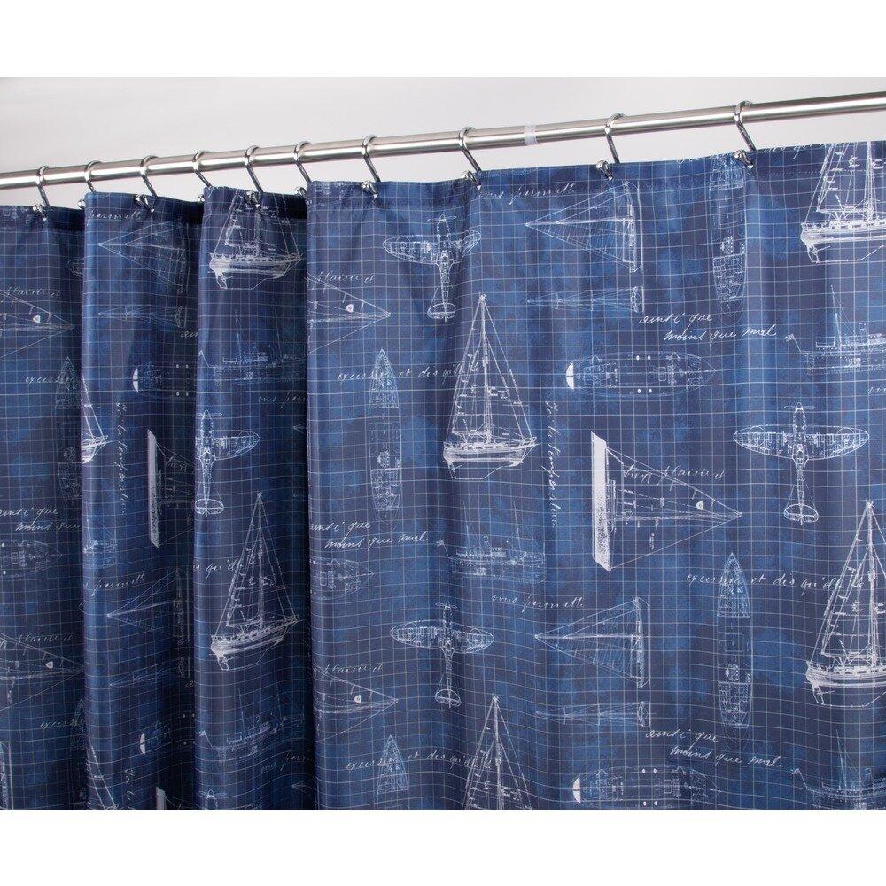 InterDesign Sailboat Shower Curtain | Wayfair