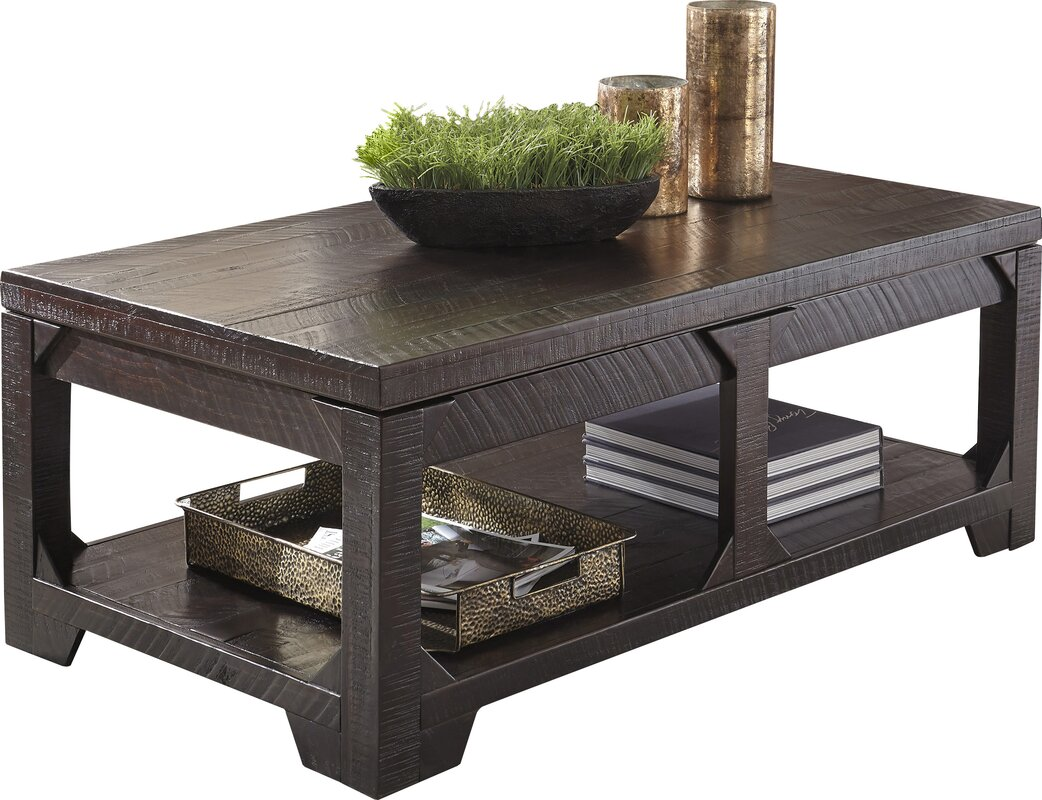world menagerie skylar coffee table with lift top & reviews | wayfair