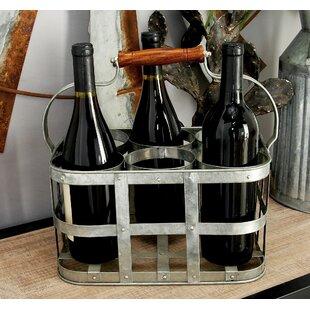 Birch Lane™ Galvanized 6 Bottle Tabletop Wine Rack