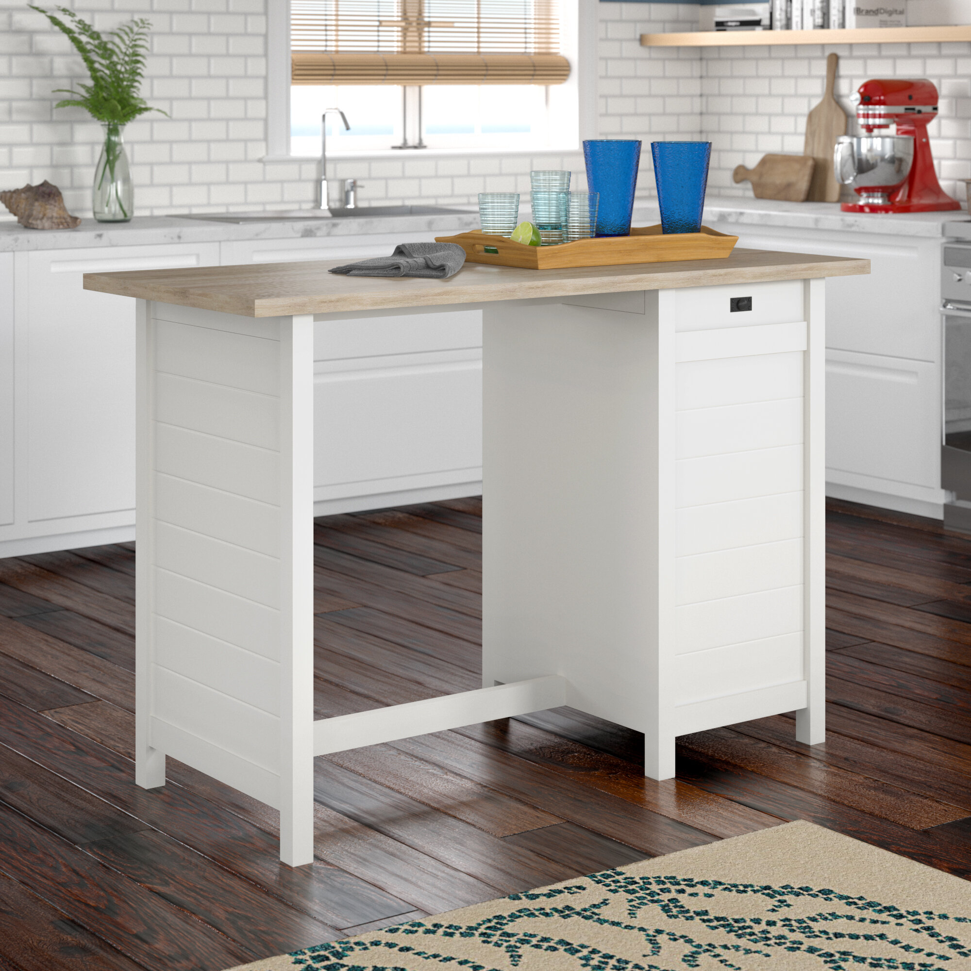 Beachcrest home hampton kitchen island with lintel oak top reviews wayfair ca