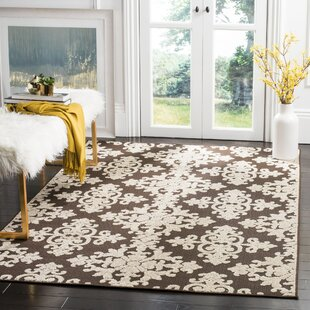 Clarence Ivory/Brown Indoor/Outdoor Area Rug