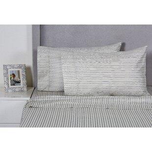 Carlson Stripe 400 Thread Count 100% Cotton Sheet Set ByEider & Ivory