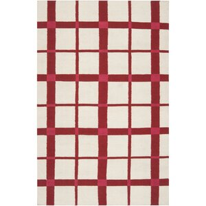 Happy Cottage Red/Ivory Area Rug