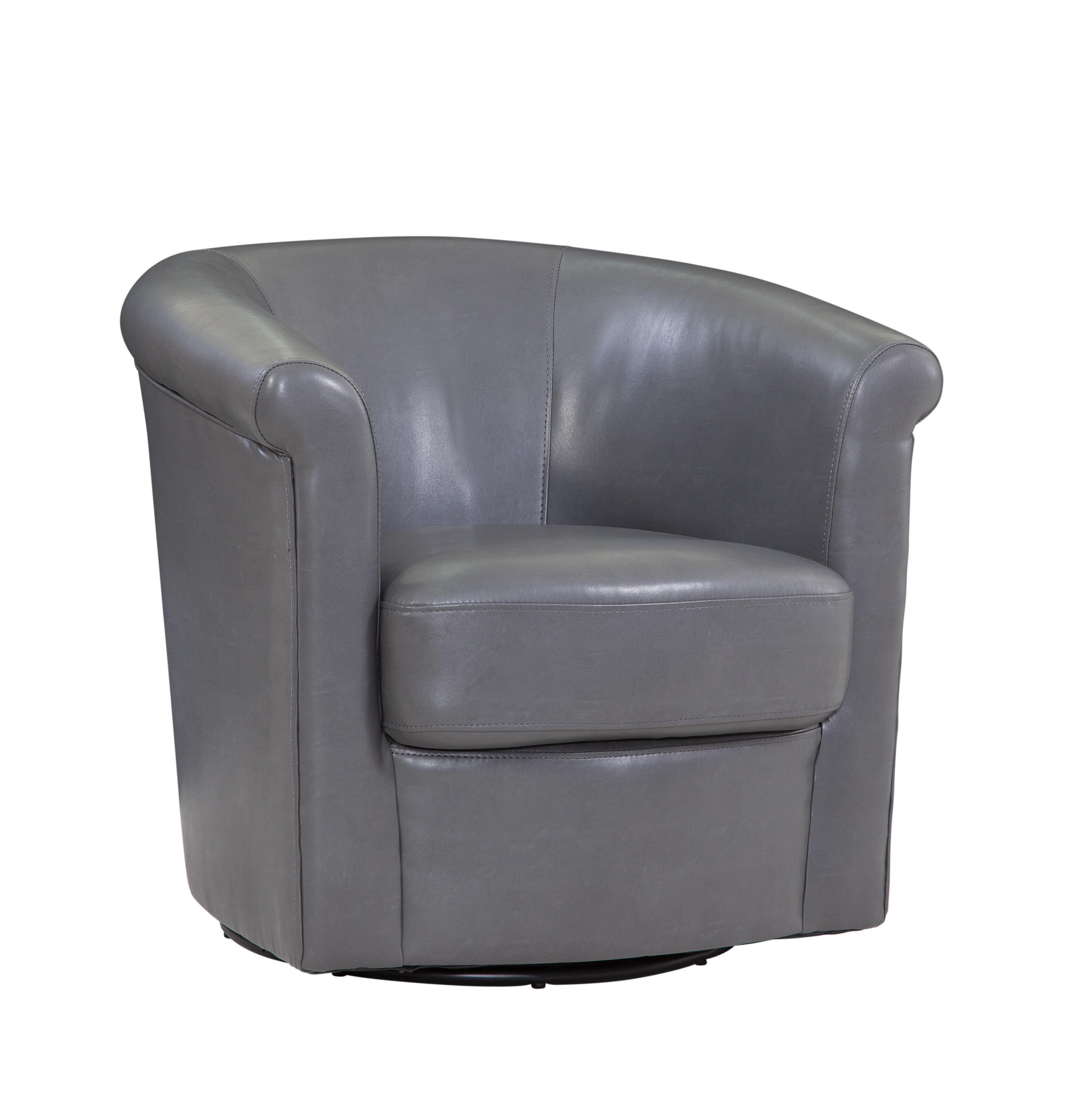 Picture of: Winston Porter Pinehill Swivel Barrel Chair Reviews Wayfair