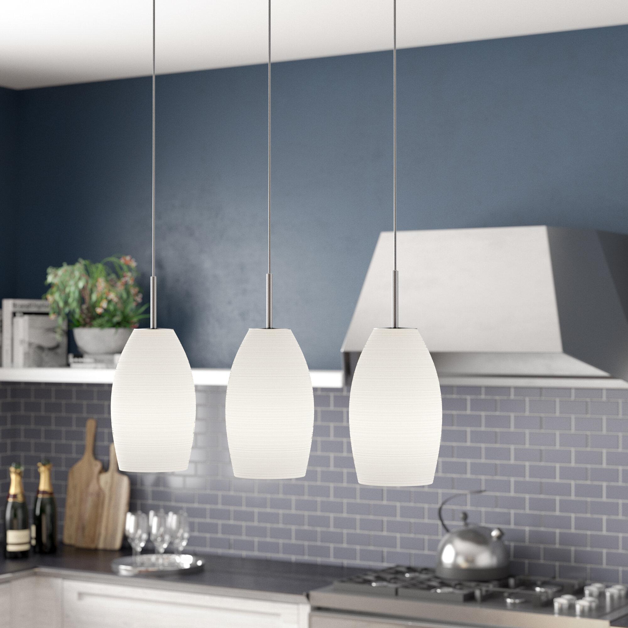Brayden Studio Anna 3 Light Kitchen Island Linear Pendant Reviews Wayfair