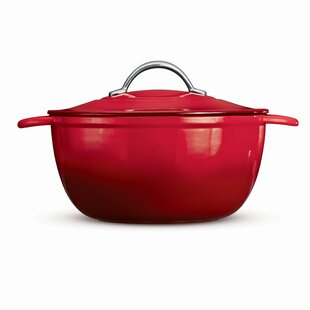 Gourmet 6.5 Qt Cast Iron Round Dutch Oven