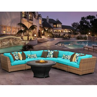 Rosecliff Heights East Village 6 Piece Sectional Set With Cushions