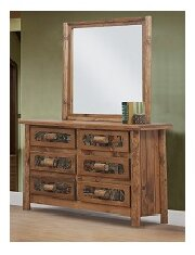 Chelsea Home Furniture Framingham 6 Drawer Double Dresser with Mirror Image