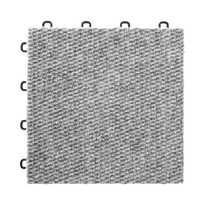 "12"" X 12"" Premium Interlocking Basement Floor Carpet Tile In Gray Blocktile"