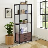 Denita 59.8 H x 26.3 W Metal Etagere Bookcase by 17 Stories