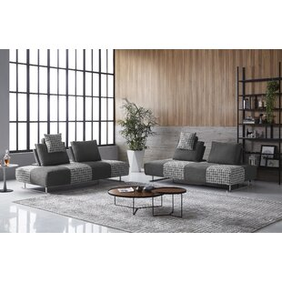 Cribbs Modern Houndstooth Modular/Sleeper Sectional