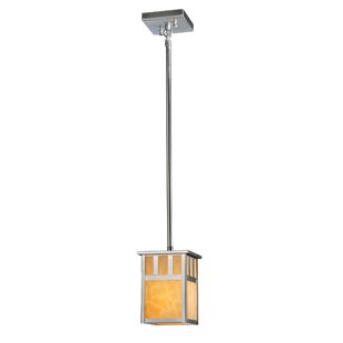 Double Bar Mission 1-Light Square/Rectangle Pendant by Meyda Tiffany