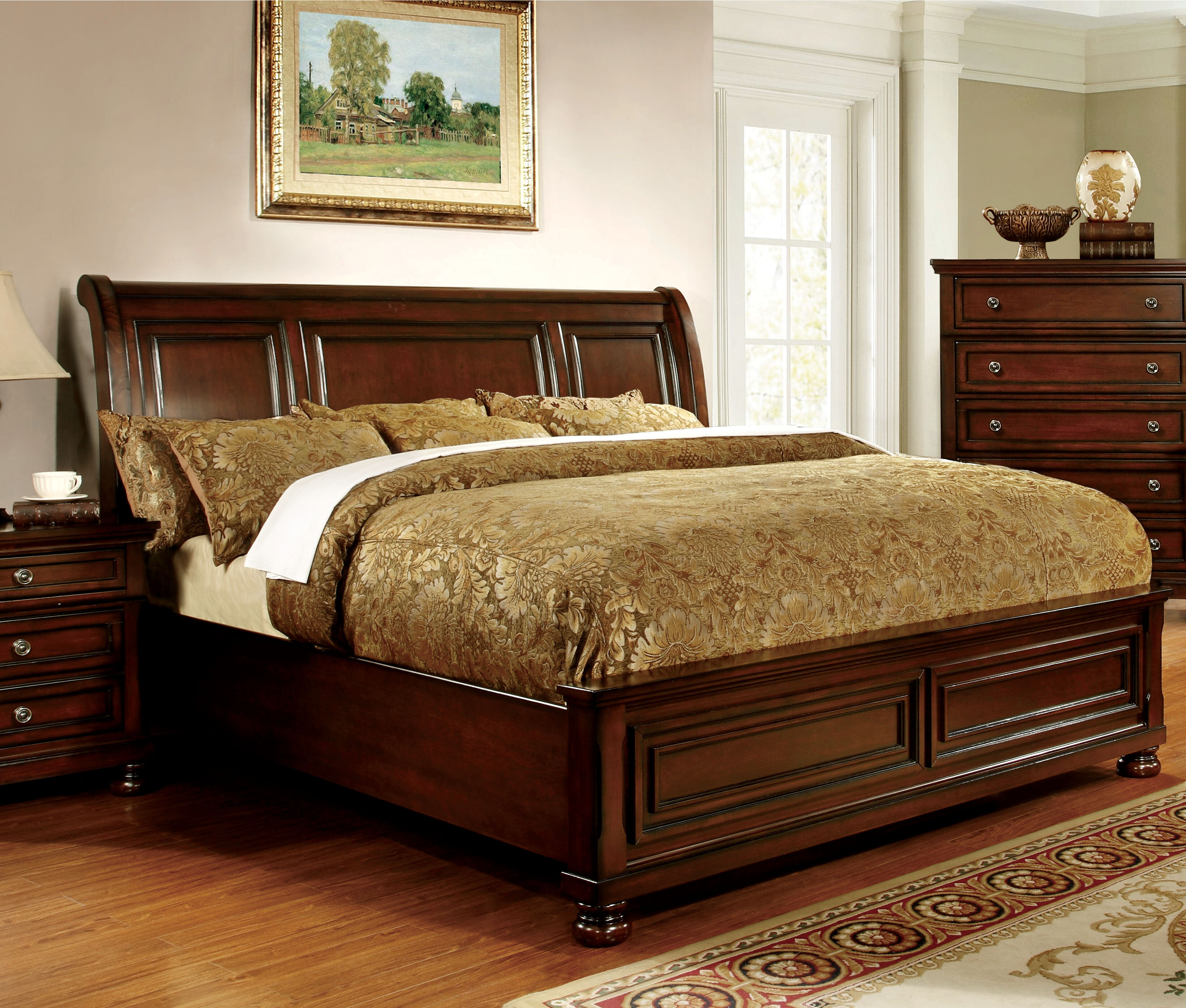darby home co barossa sleigh bed & reviews | wayfair