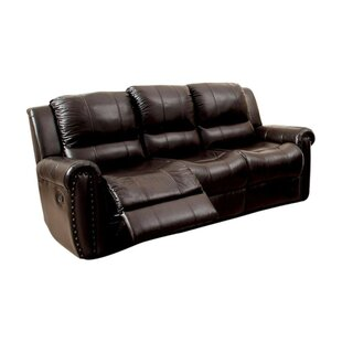 Garces Leatherette Recliner Sofa