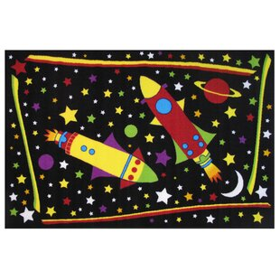 Inexpensive Fun Time Outer Space Black Area Rug ByFun Rugs
