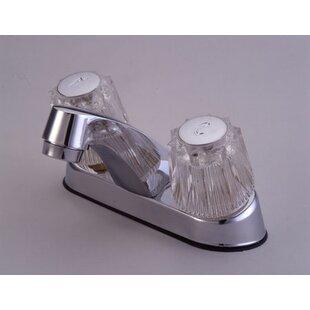 Elements of Design Centerset Bathroom Sink Faucet with Double Knob Handles