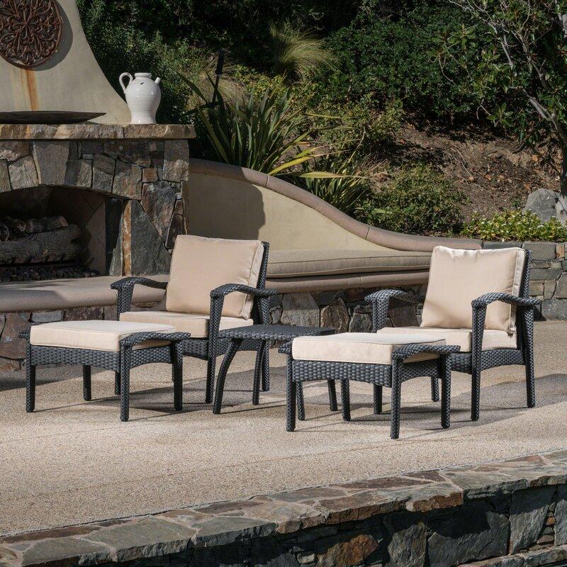 Springboro 5 Piece Conversation Set With Cushions Reviews Birch Lane