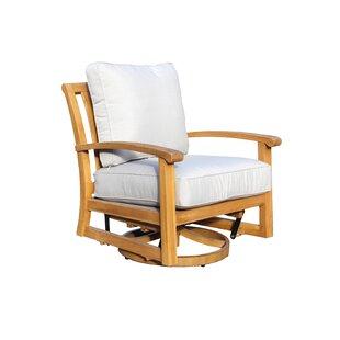 Chancy Courtyard Teak Patio Chair with Cushions