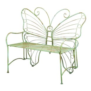 Clementina Butterfly Metal Park Bench