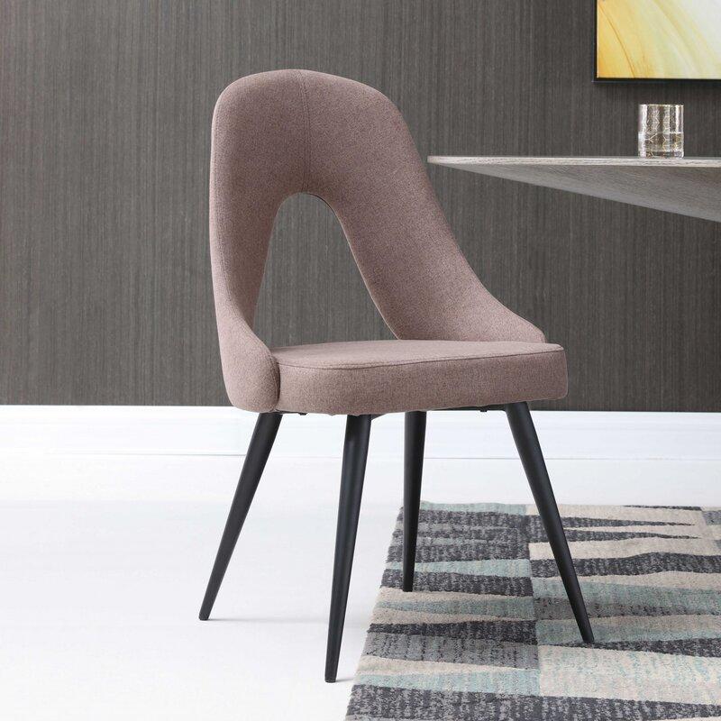 Corrigan Studio Parksley Upholstered Side Chair In Pink Wayfair