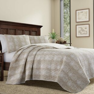 Pineapple Stripe Quilt Set by Tommy Bahama Bedding