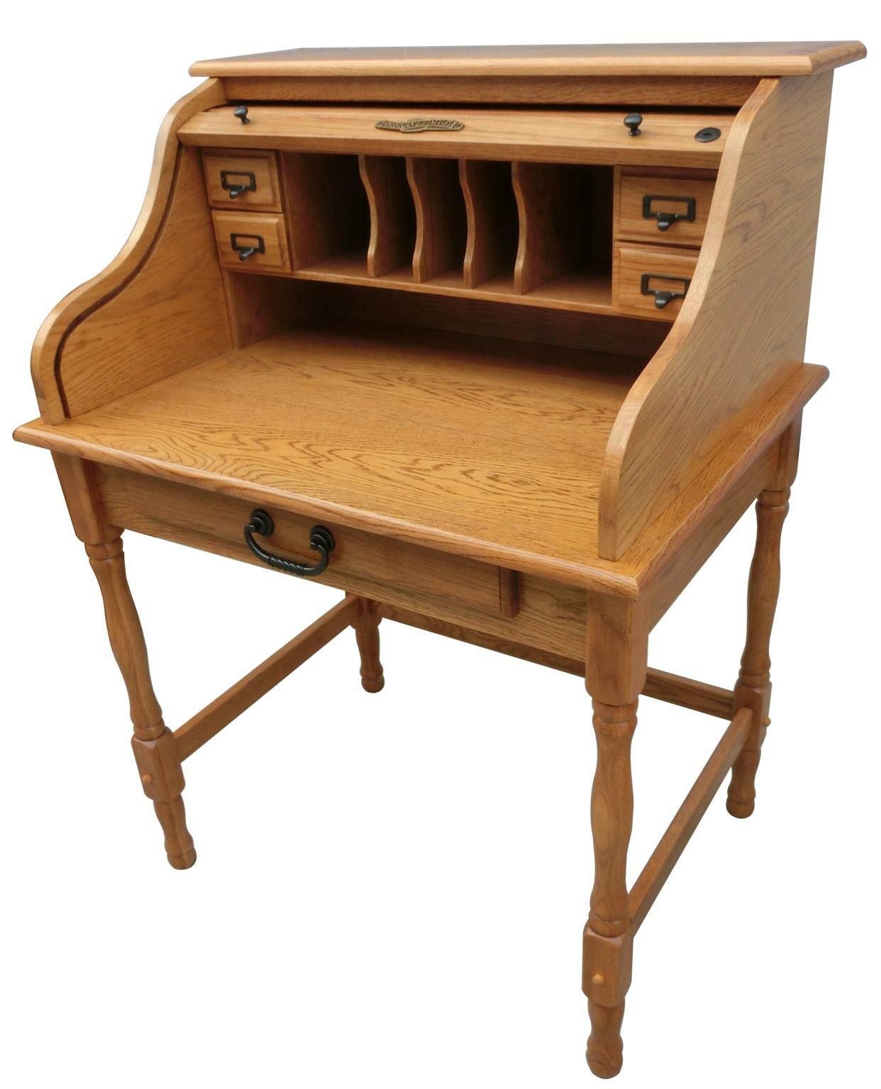 Lonie Roll Top Secretary Desk