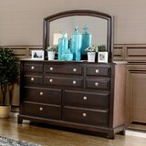 Harvell 10 Drawer Double Dresser with Mirror by Red Barrel Studio®
